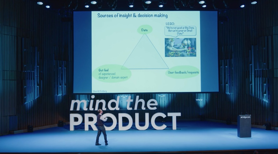 Henrik Kniberg talked about his three pronged triangle at Mind the Product London in 2019