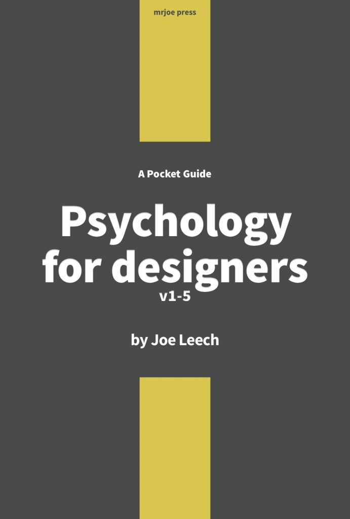 Psychology for designers v1-5 the book