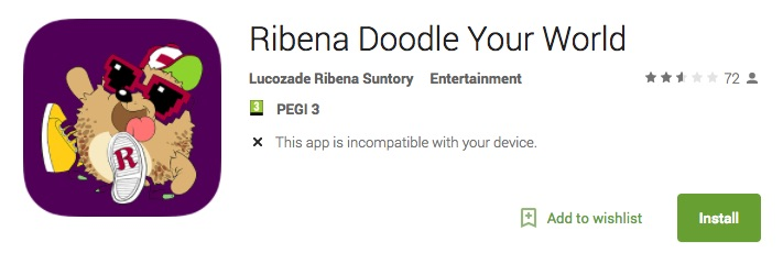 Ribena Doodle Your World app