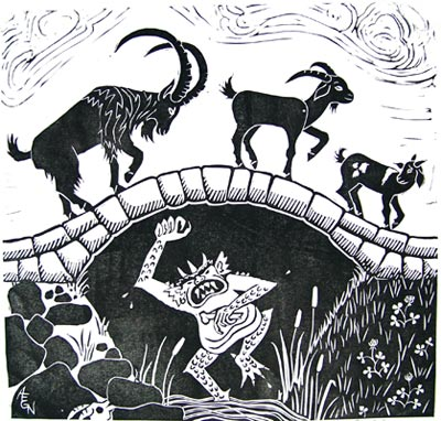 Billy Goats Gruff and the Troll under the bridge