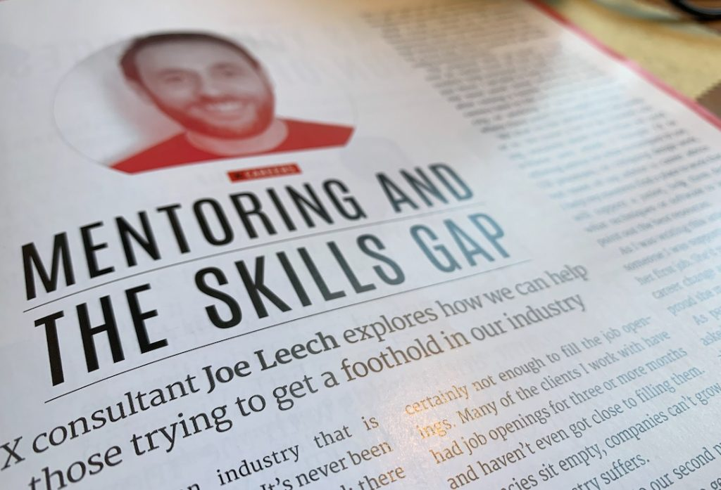 mentoring and the skills gap Joe in nutmeg